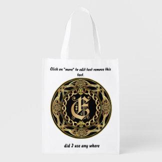 Einkaufstasche des Monogramm-E