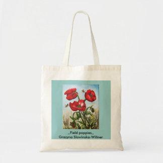 Einkaufstasche,,Feldmohnblumen,, Tragetasche