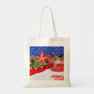 Einkaufstasche mit Weihnachtsbild