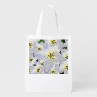 Einkaufstasche praktisch mit Blumenmuster -Lilien