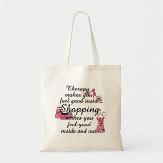 Einkaufstherapie-Rosa-Mode Tragetasche