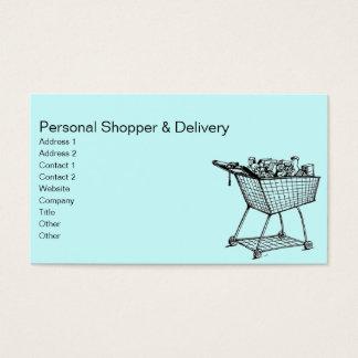 Einkaufswagen Visitenkarte