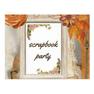 Einklebebuch-Party Postkarte
