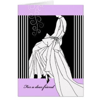 Einladung, damit Freund Trauzeugin ist, Braut Karte