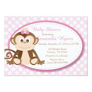 Einladung der Affe-Babyparty-/Geburtstag 12,7 X 17,8 Cm Einladungskarte