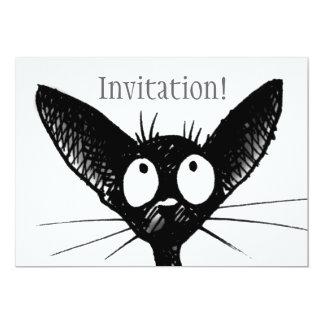 Einladung der schwarzen Katze
