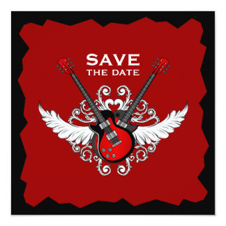 Einladung des Rock-and-Roll Save the Date
