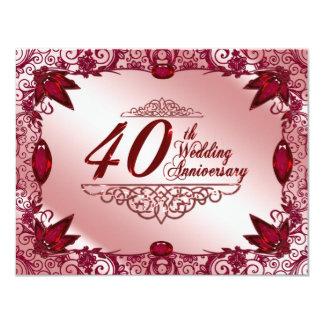 40 Hochzeitstag Laden Ein Grußkarten & Einladungen  Zazzle.de