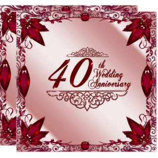 40 jahrestag einladungen | zazzle.de, Einladung