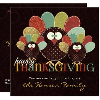 Einladung die Gewebe-Türkei-Familien-|Thanksgiving