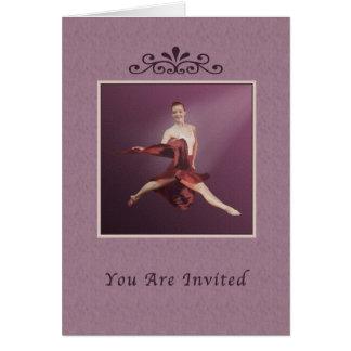 Einladung, Erwägungsgrund, Ballerina, die in Jete Karte