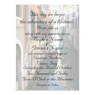 Einladung für themenorientierte Hochzeit Venedigs
