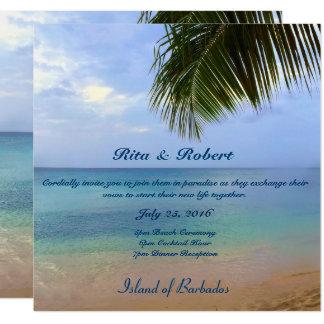 Einladung Halb-Glanz des Ozean-| Wedding der