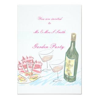 Einladung, im Garten zu arbeiten Partywein und 12,7 X 17,8 Cm Einladungskarte
