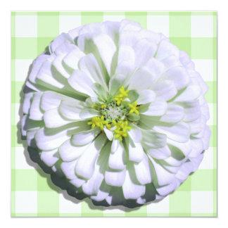 Einladung - Lemony weißer Zinnia