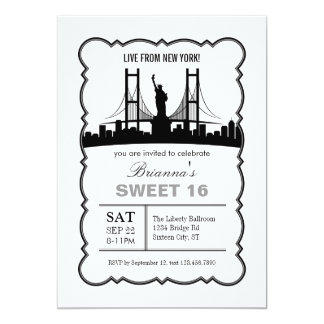 Einladung New York 16. Geburtstag