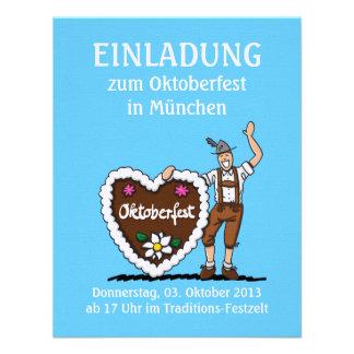 Einladung Oktoberfest bayerisches Lebkuchen-Herz