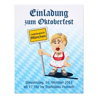 Einladung Oktoberfest Dirndl-Frauen-München-Zeiche