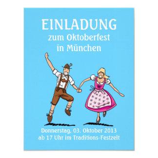 Einladung Oktoberfest München Paar-Liebe 10,8 X 14 Cm Einladungskarte