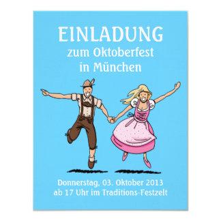 Einladung Oktoberfest München Tanzen-Paare 10,8 X 14 Cm Einladungskarte