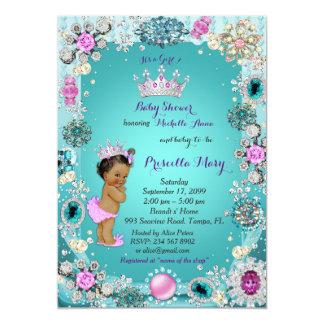 Einladung Prinzessin-Babyparty, Prinzessin, grün