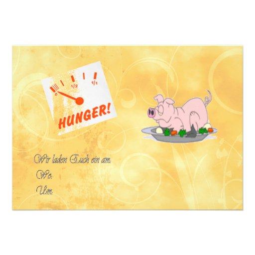 Einladung zum Essen 12,7 X 17,8 Cm Einladungskarte | Zazzle