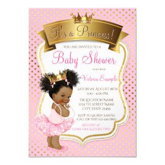 Einladungen Afroamerikaner-Prinzessin-Babyparty