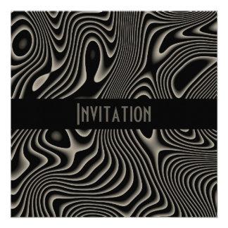 Einladungen schwarz u weiße Art-abstrakter Druck