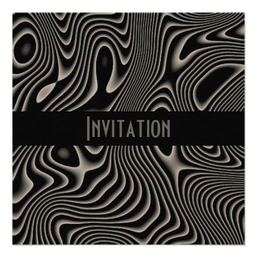 Einladungen schwarz u. weiße Art-abstrakter Druck