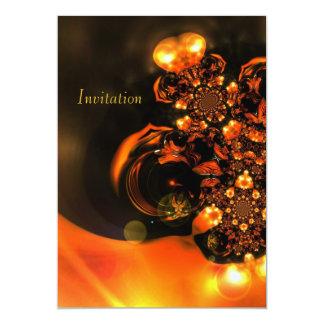 Einladungs-abstrakte Kunst-Orangen-Juwelen Karte