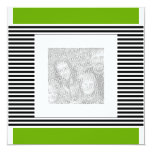 Einladungs-Geburtstags-Limones grünes schwarzes Quadratische 13,3 Cm Einladungskarte