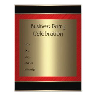 Einladungs-Geschäfts-rotes schwarzes Bronzemetall 10,8 X 14 Cm Einladungskarte