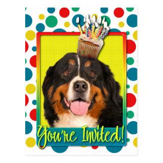 Einladungs-kleiner Kuchen - Bernese Gebirgshund Postkarte