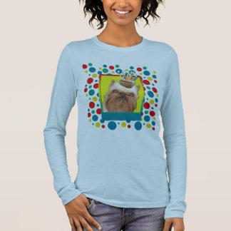 Einladungs-kleiner Kuchen - Brüssel Griffon Langarm T-Shirt