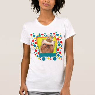 Einladungs-kleiner Kuchen - Brüssel Griffon T-Shirt