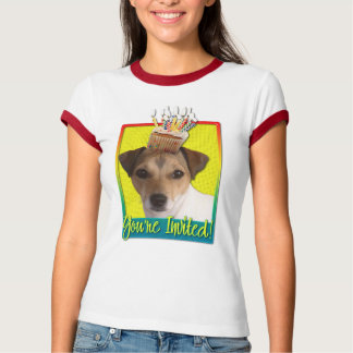 Einladungs-kleiner Kuchen - Jack Russell T-Shirt