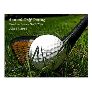 Einladungs-Postkarte des Golf-101 Postkarte