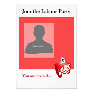 Einladungs-Schablonen-Arbeits-Party Individuelle Einladungskarte