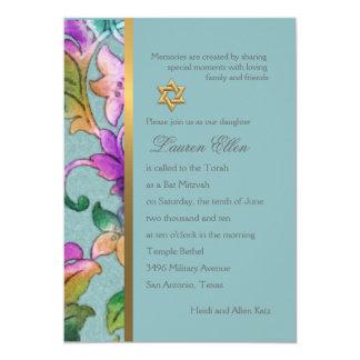 Einladungs-Schläger Mitzvah multi Farbdamast 12,7 X 17,8 Cm Einladungskarte