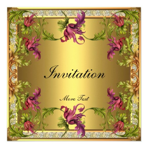 Einladungs-Vintager viktorianischer Blumenrahmen Personalisierte Ankündigung