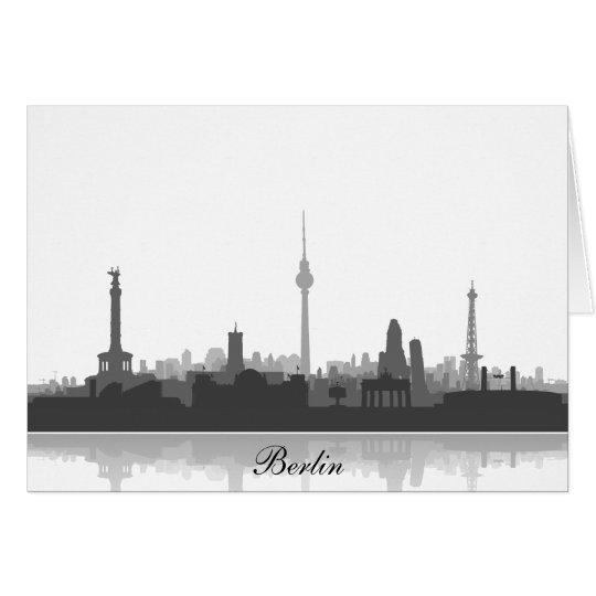 Einladungskarte mit Berlin Skyline. Karte