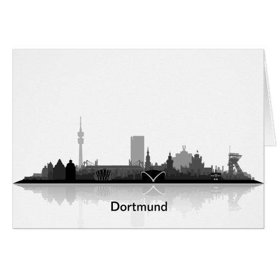 Einladungskarte mit Dortmund Skyline. Karte