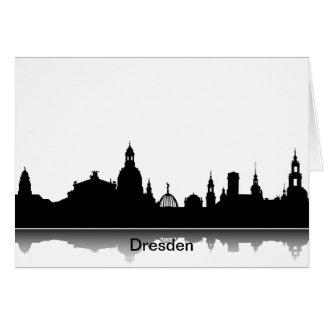 Einladungskarte mit Dresden Skyline. Grußkarte
