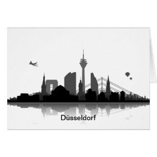 Einladungskarte mit Düsseldorf Skyline. Karte