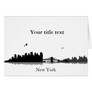 Einladungskarte mit New York Skyline. Grußkarte