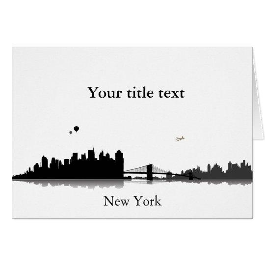 Einladungskarte mit New York Skyline. Karte