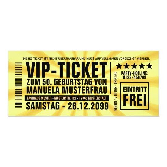einladungskarten 50. geburtstag vip einladung | zazzle.de