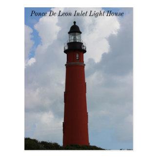 Einlass-Leuchtturm Ponce Des Leon Postkarte