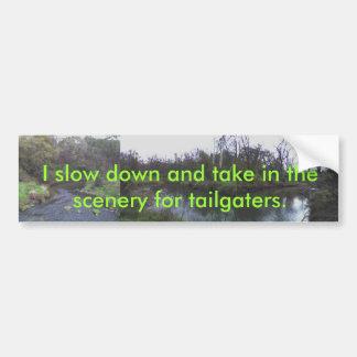 Einlassen der Landschaft für tailgaters! Autoaufkleber