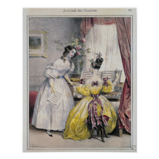 """Einleitung, von """"Zeitschriften-DES Femmes"""", 1830-4 Plakatdrucke"""